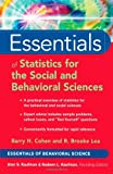Essentials of Statistics for the Social and Behavioral Sciences (Essentials of Behavioral Science)