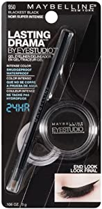 Maybelline York Eye Studio Lasting Drama Gel Eyeliner, Blackest Black 950, 0.106 Ounce