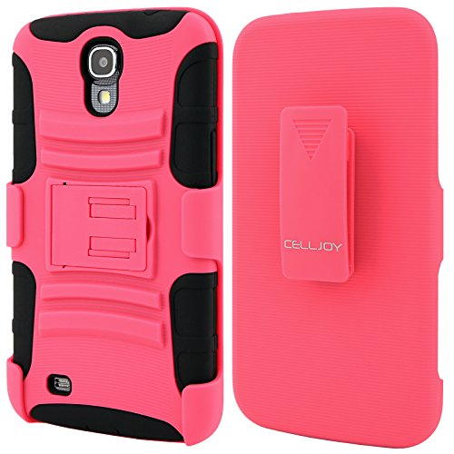 Celljoy Samsung Galaxy Mega 6.3 Case Protective [Future Armor] Ultra Fit Dual Protection Cover With Belt Clip Holster For Galaxy Mega 6.3 [Retail Packaged] (Pink / Black)