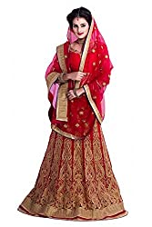 Georgette Party Wear Lehenga Choli in Red Colour