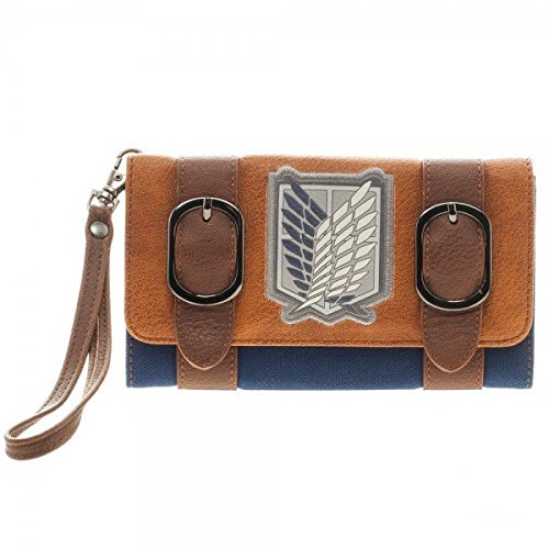 Attack on Titan Faux Leather Flap Wallet (Aot Merchandise compare prices)