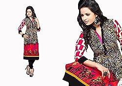RR Fashion Women's Cotton KURTI (RRF3015_MULTICOLOUR)
