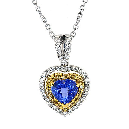 ... wedding anniversary with this gorgeous sapphire and diamond heart