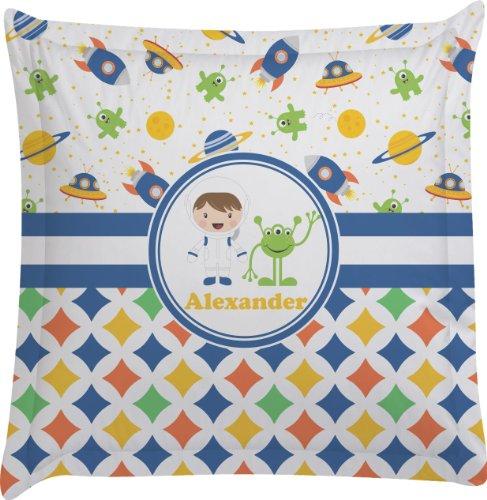 Boy'S Space & Geometric Print Personalized Euro Sham Pillow Case front-987550