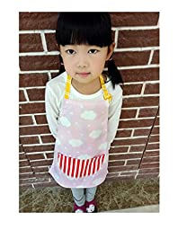 CRB Toddler Little Girls Boys Baking Bakware Cute Chef Baking Top Apron with Pocket (2T to 3T, Style #8)