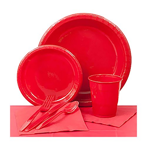 Shindigz Valentines Day Decorations Classic Red Plastic Party Pack