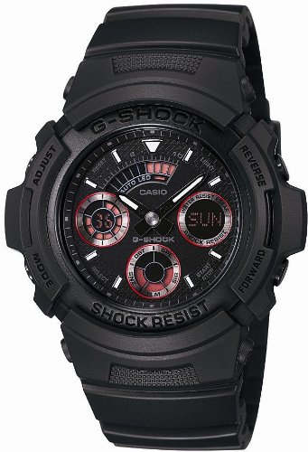 [カシオ]CASIO 腕時計 G-SHOCK ジーショック STANDARD MAT BLACK RED EYE AW-591ML-1AJF メンズ