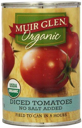 Muir Glen, Organic Diced Tomatoes, No Salt Added,