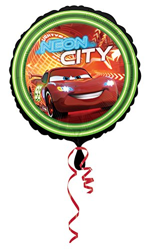 Anagram International HX Cars Neon City Packaged Party Balloons, Multicolor