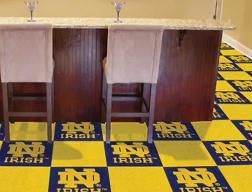 "Fanmats Ncaa Notre Dame College Sports Themed Rooms Gyms Decorative Flooring Logo Carpet Tiles 18""X18"" Tiles front-663521"