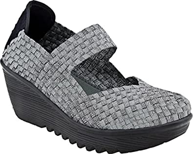 Bernie Mev Lulia Womens Casual Wedge Mary Jane Shoes LULIA-PEWTER Brown 37 EUR