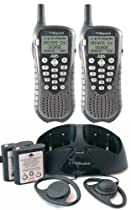 Today On Sale TriSquare EXRS TSX300 2VP 900MHz FHSS Digital Two Way Radio Charcoal Metallic Black Pair