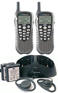 TriSquare eXRS TSX300-2VP 900MHz FHSS Digital Two-Way Radio (Charcoal Metallic/Black) (Pair)
