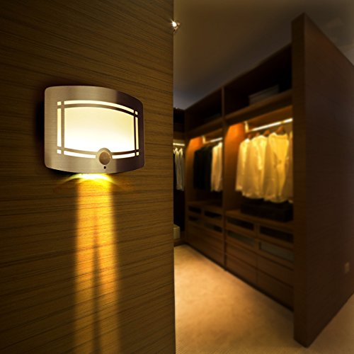 Signstek 10 Led Wireless Light-Operated Motion Sensor Activated Battery Operated Sconce Wall Light (1) front-154591