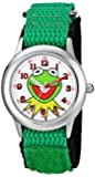 Disney Kids' The Muppets Kermit Stainless Steel Watch with Nylon Strap