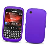 BlackBerry Curve 3G 9300 (T-Mobile) & Gemini Curve 8520 & 8530 Silicone Skin Case, Purple
