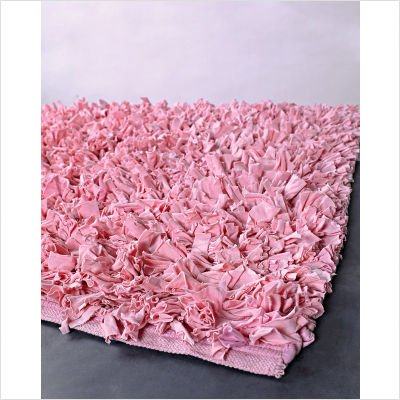 Ultra Light Pink Shag Rug Size: 3' x 5'