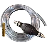 Plumber's Siphon Pro - Universal Gas, Oil, Potable Water - 1 Gl. Per Min. - W/ 8' of Hose & Fits Any Hose, Any Length - Brass Weight & Hose Extender to Sink Hose -More Gl. Per Minute W/Larger Hose