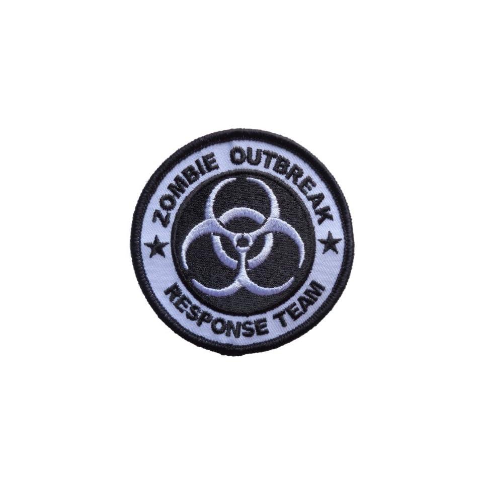 Zombie Outbreak Response Team Biohazard Logo Iron On Patch 3 inches