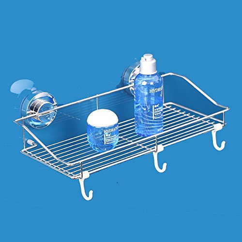 Organizador De Baño De Acero Inoxidable:Super soporte de ventosa, pueden ser pegados en la sapecially de