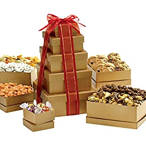 Broadway Basketeers Holiday Wishes Gift Tower of Sweets for Christmas