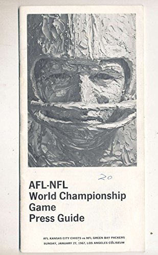 1967 AFL/NFL Superbowl I Championship Press amp; Media Guide (1967 Super Bowl Program compare prices)
