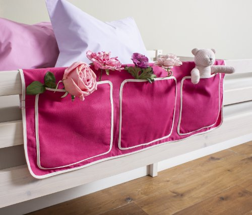 Bed Tidy, Pocket / Organiser for Cabin Beds/Bunks in PINK