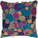 L.R. Resources LR07201-1414TEAL Contemporary Accent Pillow, Teal