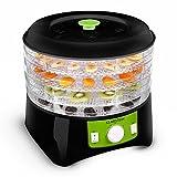 Klarstein-Appleberry-Deshydrateur-electrique-pour-fruits-viandes-lgumes-400W-4-tages-sans-BPA-noirvert