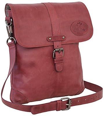 """Gusti Cuir studio """"Freesia"""" sac à main en cuir sac à bandoulière en cuir cabas besace sac de courses sac en cuir de chèvre vintage femmes filles bordeaux framboise 2M46-29-1"""