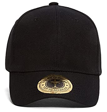 Plain Black Adjustable Hat