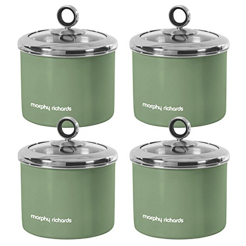 Bon 4 Piece 1.4L Small Canister Sage Green Kitchen Storage Tea Sugar Coffee  Food Container