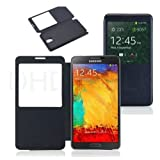For Samsung Galaxy Note 3 Note3 CaseNew S View Flip Leather Cover Battery Housin