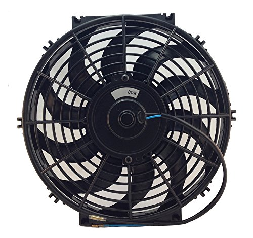 d-Ap DC24V 12 inch Electric Cooling Radiator Fan With Fan Mounting Kit (12 inches, 24V PULL) (Yj Electric Fan compare prices)