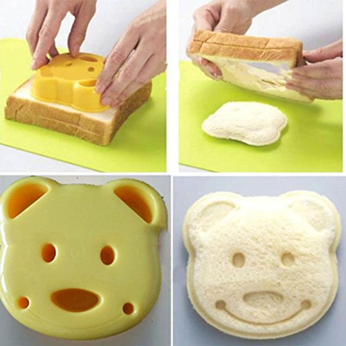 HuaYang Party Home Breakfast DIY Cartoon Bear Shape Cookie Pastry Cutter Sandwich Toast Maker Bread Mold Tool