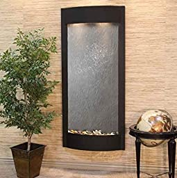 Adagio PW 1711 Pacfica Waters Wall Fountain - Black Featherstone