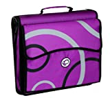 Case-It 2-Inch O-Ring Zipper Binder with Removable Tab File, Purple Print (D-900-PPL-P) (D-900-PPL-P)