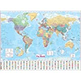 Collins World Wall Laminated Map (Wall Map)