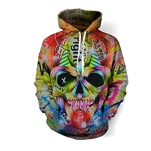Artist Threads Face Hoodie – Premium All Over Print Graphic Pullover – XXX-Large
