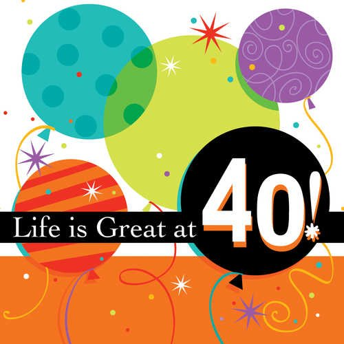 "Life Is Great 40th 7"" Napkin"