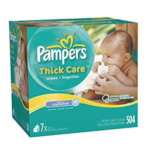 Pampers ThickCare Touch of Chamomile Wipes Refill, 7x Box 504 Count