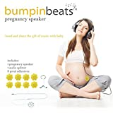 bumpinbeats Pregnancy Speaker. Play Music and Sound on Moms Belly. Includes 1 Speaker, Audio Splitter for bonding with Baby, and 8 Petal Shape adhesives to Attach to Your Belly. (Color: White, Tamaño: 4.5cm)