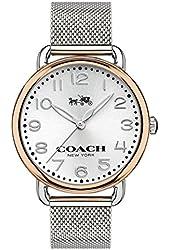 COACH Women's Delancey 36mm Mesh Bracelet Watch Silver/Stainless Steel Watch