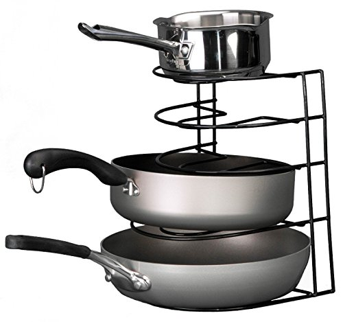 Kitchen Frying Pans Black Sorter Pot Rack Organizer Storage Cabinet Sturdy Steel /supplyzazza69shop (Frying Pan Sorter Black compare prices)