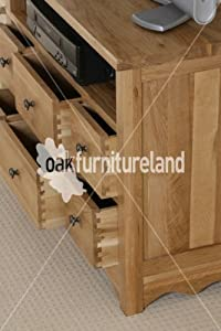 Top of line  Cairo Natural Solid Oak TV Corner Cabinet