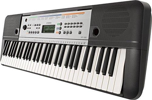 Yamaha-YPT-255-Teclado-electrnico-61-teclas-385-sonidos-color-gris-metal