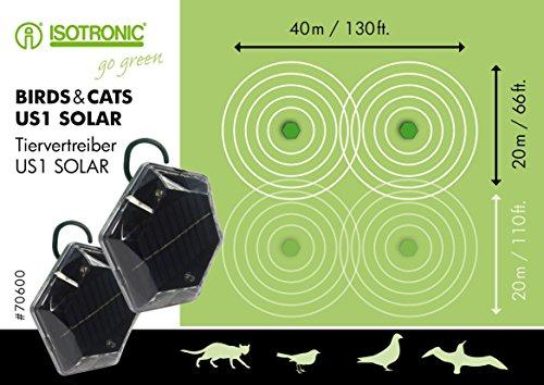 isotronic solar vogelabwehr ultraschall 2er set vogelvertreiber vogelschreck taubenabwehr. Black Bedroom Furniture Sets. Home Design Ideas