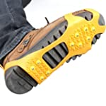 Pair Ice Snow Shoe Spikes Grips Cramp...