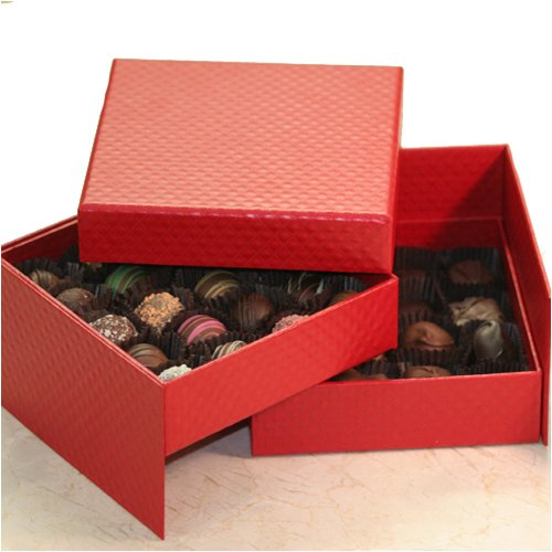 Red Cube Jewelry Box Picture