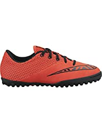 Nike Youth Mercurialx Pro Turf (BRIGHT CRIMSON/HOT LAVA/BLACK)